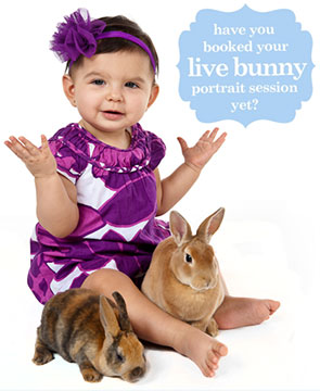 Photos with Live Bunnies Jordan Photography